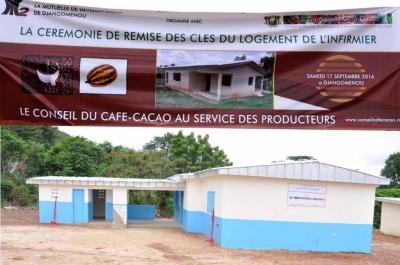 LE CONSEIL DU CAFE-CACAO OFFRE UN LOGEMENT A L'INFIRMIER DU CENTRE DE SANTE DE DJANGOMENOU