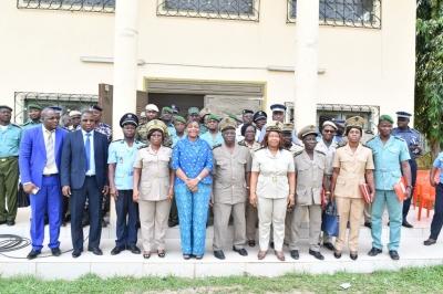 LE CONSEIL DU CAFE-CACAO SENSIBILISE LES FORCES DE L'ORDRE ET DE SECURITE AUX FRONTIERES DU GHANA